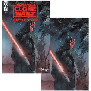 [Star Wars Adventures: Clone Wars #3 (Forbidden Planet Exclusive Peach Momoko Variant Set) (Product Image)]