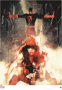 [Marvel: Giclee Print: Sienkiewicz Daredevil & Elektra (Product Image)]