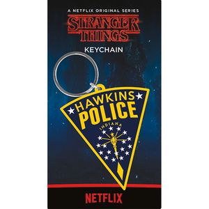 [Stranger Things: Rubber Keychain: Hawkins Police (Product Image)]