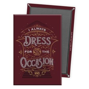 [Doctor Who: Anniversary Collection: Magnet: Dress For The Occasion (Product Image)]