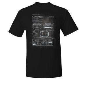 [Batman: T-Shirt: Batmobile Blueprints (Product Image)]