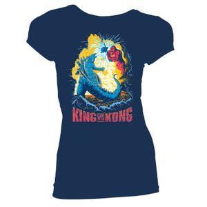 [Godzilla Vs Kong: Women's Fit T-Shirt: Epic Battle (Product Image)]