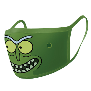 [Rick & Morty: Face Mask 2-Pack: Pickle Rick (Product Image)]