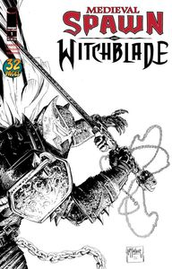 [Medieval Spawn: Witchblade #1 (Cover C B&W - Mcfarlane) (Product Image)]
