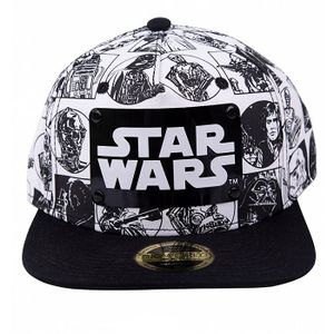 [Star Wars: Snapback Cap: Comic Style With Metal Plate Logo (Product Image)]