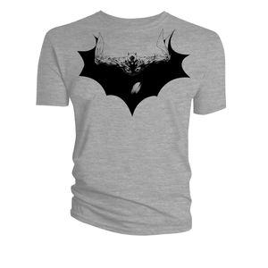[Batman: T-Shirts: Flying Symbol (Grey) (Product Image)]