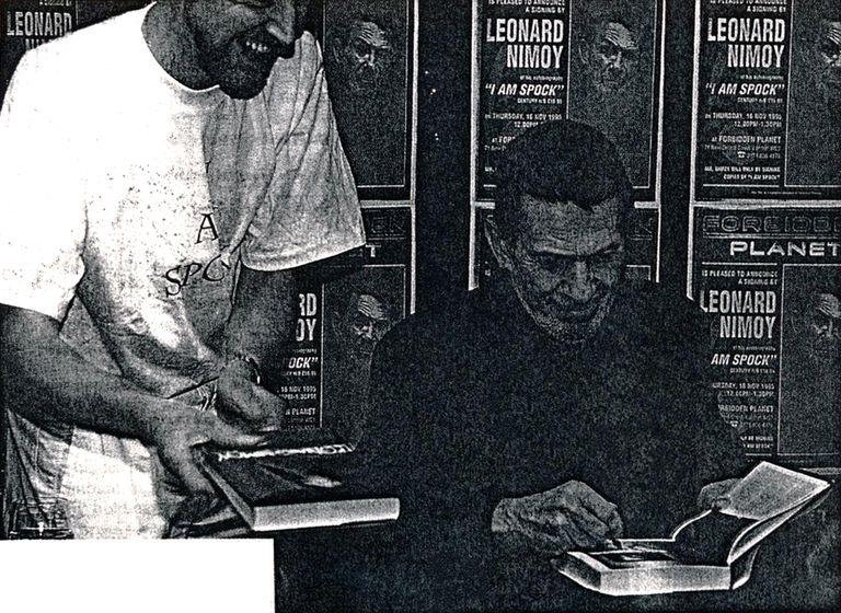 Leonard Nimoy Signing I Am Spock