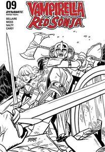 [Vampirella/Red Sonja #10 (Romero Black & White Variant) (Product Image)]
