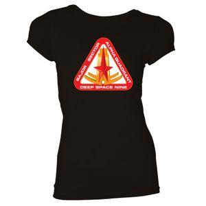 [Star Trek: Deep Space Nine: Women's Fit T-Shirt: Bajor Sector (Black) (Product Image)]