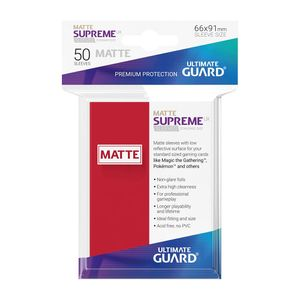 [Supreme UX Sleeves: Standard Size 50 Pack: Matte Red (Product Image)]