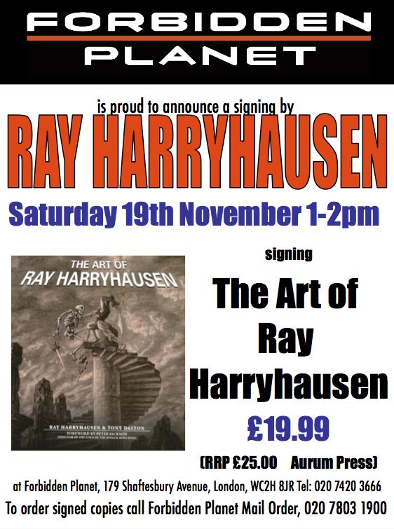Ray Harryhausen Signing The Art of Ray Harryhausen