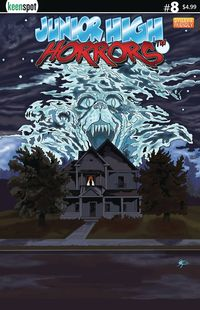 [The cover for Junior High Horrors #8 (Cover A Fright Night Parody)]