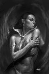 [Vengeance Of Vampirella #6 (Parrilllo B&W Virgin Variant) (Product Image)]
