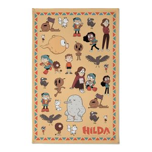 [Hilda: Tea Towel: Hilda & Friends (Product Image)]