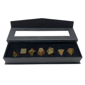 [Dungeons & Dragons: RPG Dice Set: Heavy Metal: Feywild (Copper & Green) (Product Image)]