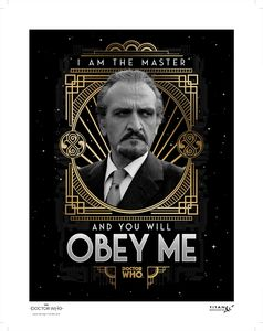 [Doctor Who: Anniversary Collection: Art Print: 50 Years Of The Master (Roger Delgado) (Product Image)]