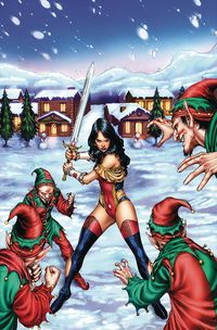 [The cover for Grimm Fairy Tales: 2017 Holiday Special (Cover A Silva)]