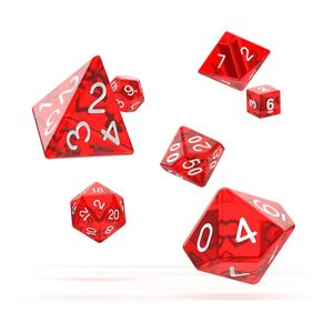 [Oakie Doakie Dice: RPG 7 Set: Translucent Red (Product Image)]