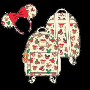 [Disney: Loungefly Mini Backpack & Headband Combo: Mickey & Minne Mouse Christmas Cookies (Product Image)]