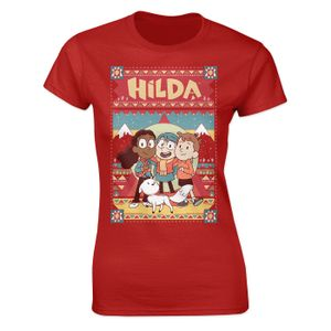 [Hilda: Women's Fit T-Shirt: Hilda & Friends (Red) (Product Image)]