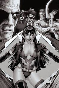 [Vampirella: Dark Powers #2 (Lau B&W Virgin Variant) (Product Image)]