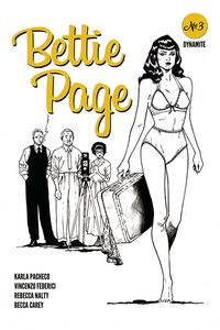 [Bettie Page #3 (Peeples Homage Black & White Variant) (Product Image)]