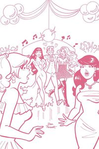 [Red Sonja & Vampirella Meet Betty & Veronica #6 (Parent Pink tint Virgin Variant) (Product Image)]