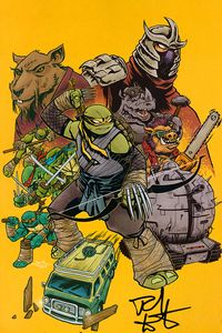 [Teenage Mutant Ninja Turtles: Ongoing #100 (Forbidden Planet Rich Woodall Variant Signed Edition) (Product Image)]