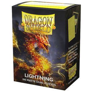 [Dragon Shield: 100 Matte Dual Sleeves: Lightning (Product Image)]