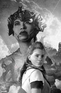 [Horizon Zero Dawn #2 (Cover D Artgerm Black & White Virgin Variant) (Product Image)]