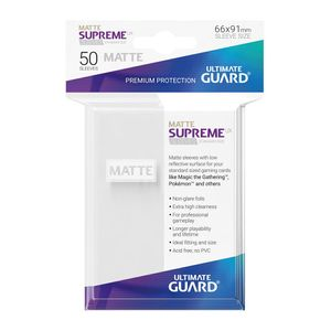 [Supreme UX Sleeves: Standard Size 50 Pack: Matte White (Product Image)]