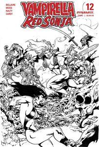 [Vampirella/Red Sonja #12 (Castro Black & White Variant) (Product Image)]