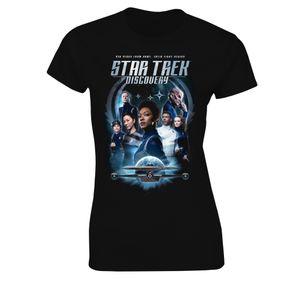 [Star Trek: Discovery: Women's Fit T-Shirt: Crew & Badge (Season 3) (Product Image)]