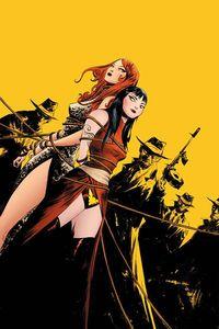 [Vampirella/Red Sonja #7 (Lee Yellow Virgin Variant) (Product Image)]