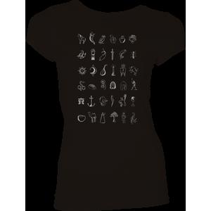 [His Dark Materials: Women's Fit T-Shirt: Golden Compass Symbols (Product Image)]
