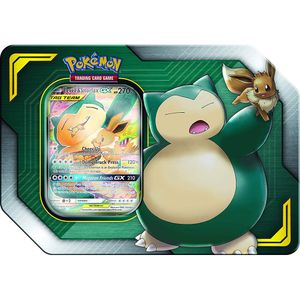 [Pokemon: Trading Cards Game: GX TAG Team Tin: Eevee & Snorlax (Product Image)]
