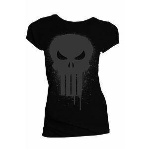 [Marvel: T-Shirt: Punisher Skull Paint Drip (Product Image)]