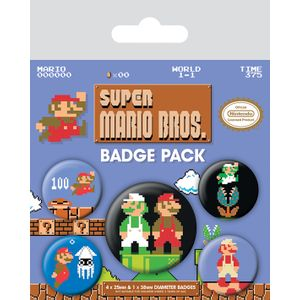 [Super Mario Bros: Badge Pack (Product Image)]