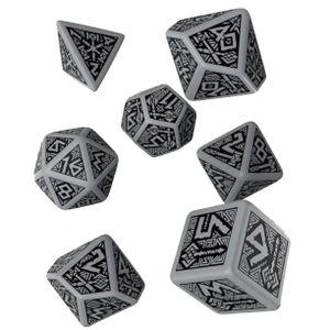 [Q-Workshop: Grey & Black Dice Set: Dwarven (Product Image)]