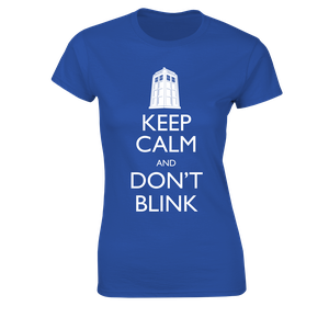 [Doctor Who: Women's Fit T-Shirt: Keep Calm & Don't Blink (Product Image)]