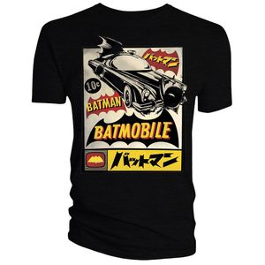 [Batman: T-Shirt: Retro Batmobile (Product Image)]