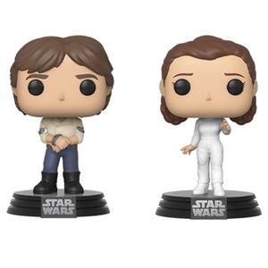 [Star Wars: The Empire Strikes Back: Pop! Vinyl Bobblehead 2 Pack: Han & Leia (Product Image)]