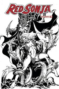 [Red Sonja #19 (Castro Black & White Variant) (Product Image)]