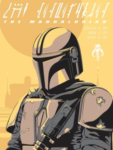 [Star Wars: The Mandalorian: 60x80 Canvas Print: The Mandalorian (Illustration) (Product Image)]