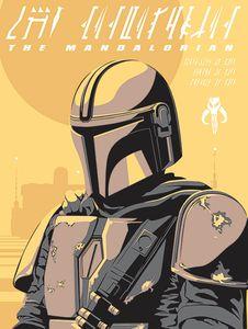 [Star Wars: The Mandalorian: 60x80 Canvas Print: The Mandalorian (Illustration) (Product Image)]