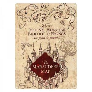 [Harry Potter: Tin Sign: Marauders Map (Product Image)]