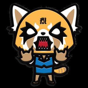 [Aggretsuko: Pin Badge: Fury (Product Image)]
