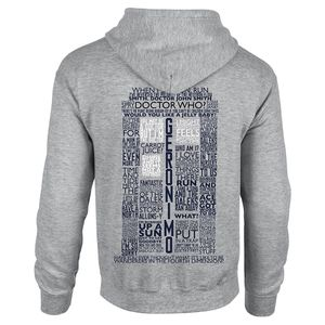 [Doctor Who: Hoodie: Tardis Quotes (Product Image)]
