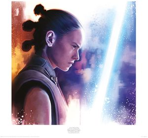 [Star Wars: The Last Jedi: Art Print: Rey Lightsaber Paint (Product Image)]