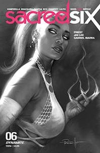 [Sacred Six #6 (Parrillo B&W Variant) (Product Image)]
